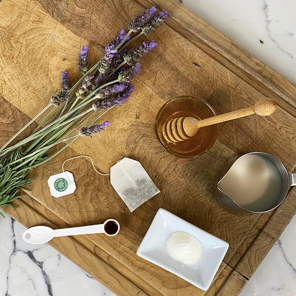 Chamomile tea with lavender