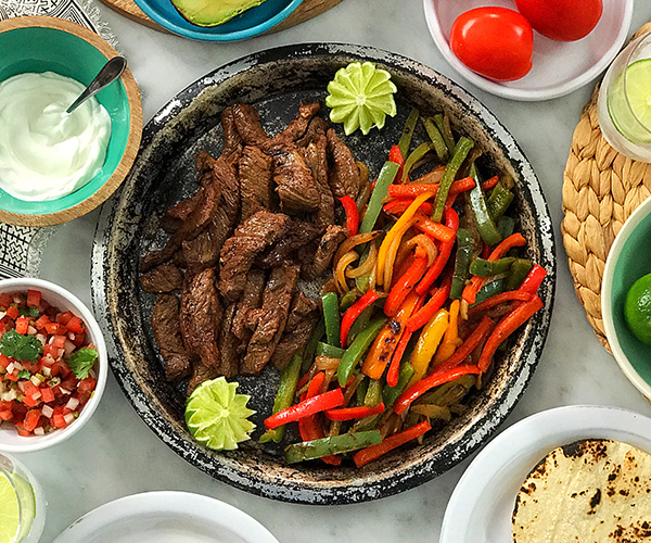 Steak-Fajitas