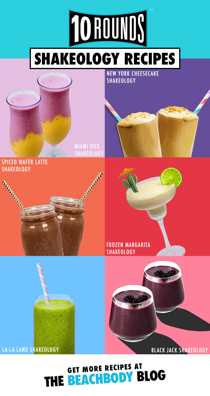 10 Rounds Shakeology smoothie