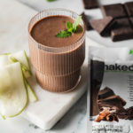 Chocolate Zucchini Bread Shakeology in a glass