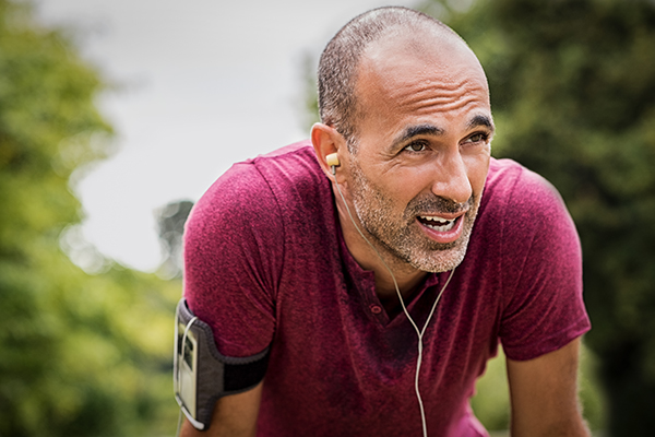 Man sweating after run