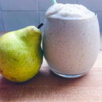 Pear Ginger Vanilla Shakeology in a glass
