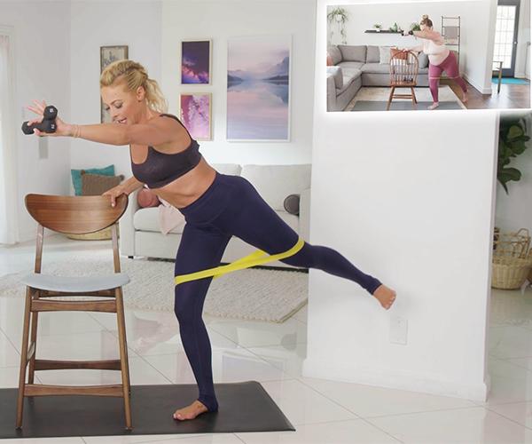 Elise Joan doing Pre & Post Natal Barre Blend workout