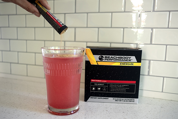 Fruit Punch Energize in a glass