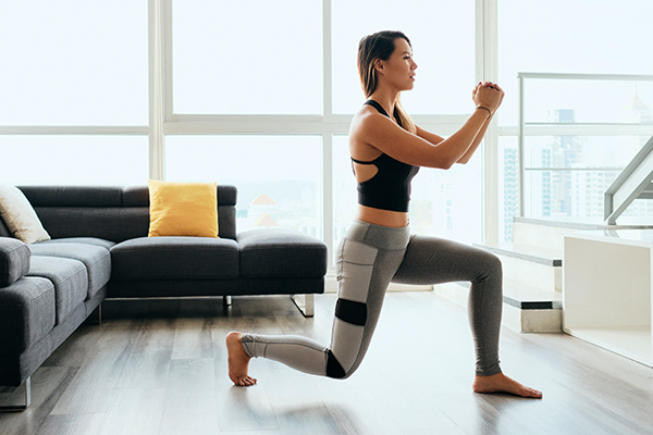 Woman doing a lunge exercise