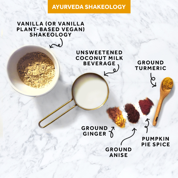 Ayurveda Shakeology ingredients