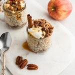 Cinnamon-Apple-Overnight-Oats in jars
