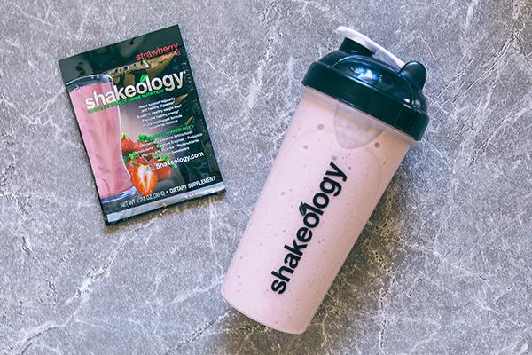 Strawberry Shakeology shake