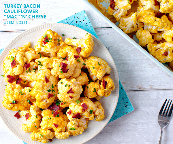 "Turkey Bacon Cauliflower ""Mac"" n' Cheese"