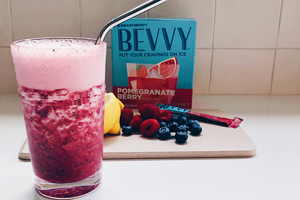 Very Berry Bevvy Spritzer in a glass