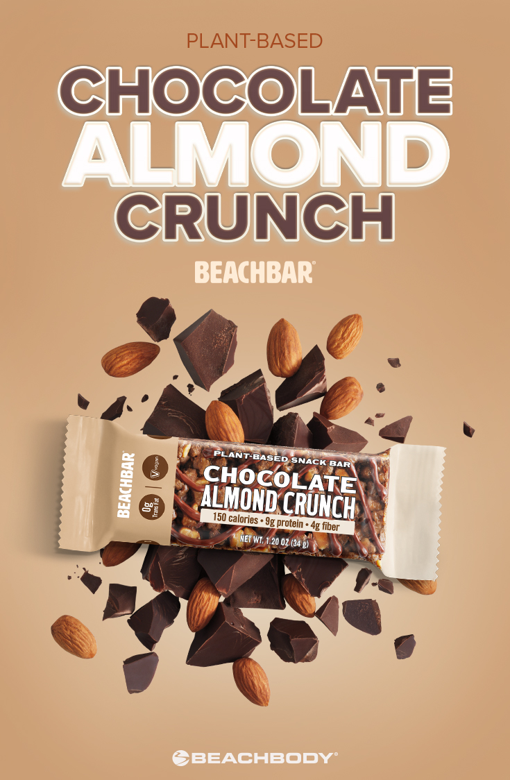 Plant-Based Vegan Chocolate Almond Crunch BEACHBAR
