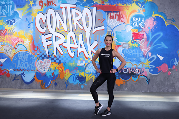 Autumn Calabrese on the set of 9 Week Control Freak