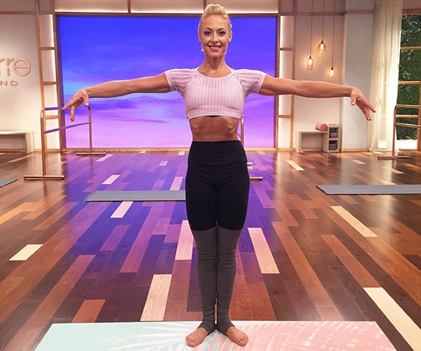 Elise Joan demonstrating first position