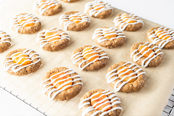 Apricot_Thumbprint-Cookies on a cooling rack