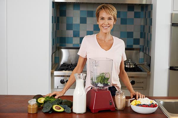 Isabelle Daikeler in her kitchen