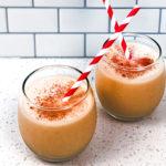 Pumpkin Spice Shakeology Eggnog in glasses