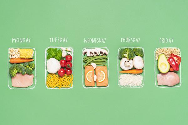 Meal plan for a week illustration