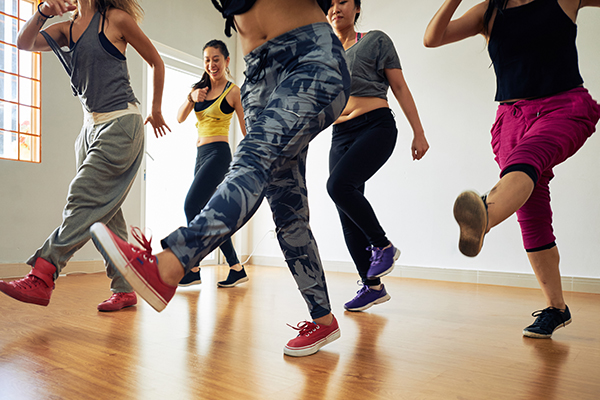 Group of women doing dance workout