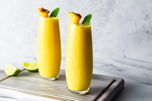 Mango Daiquiri Energize Coolers on cutting board