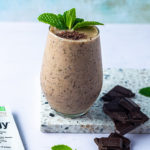 Mint Chip Cookies & Creamy Shakeology in a glass
