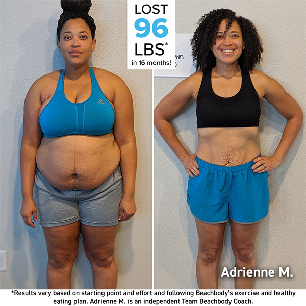 Adrienne Moses before and after photo
