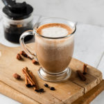 Almond Spice Latte Shakeology in a glass