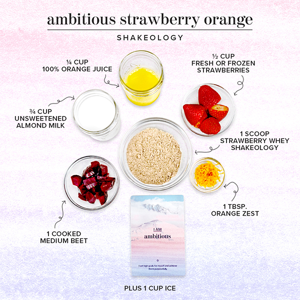 Ingredients graphic for Strawberry Orange Shakeology