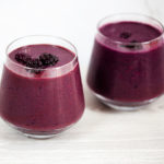 Blackberry shakeology smoothies in glasses