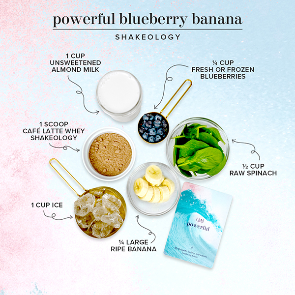 blueberry banana shake ingredients