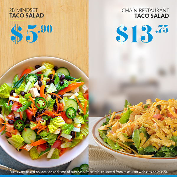 Homemade taco salad vs. restaurant taco salad