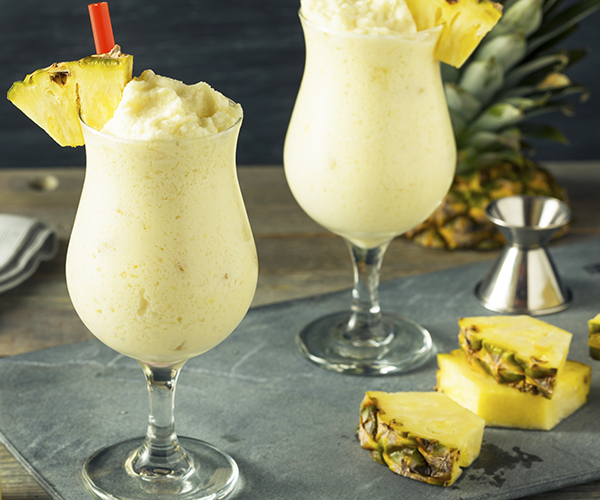 Pina Colada Shakeology in a glass