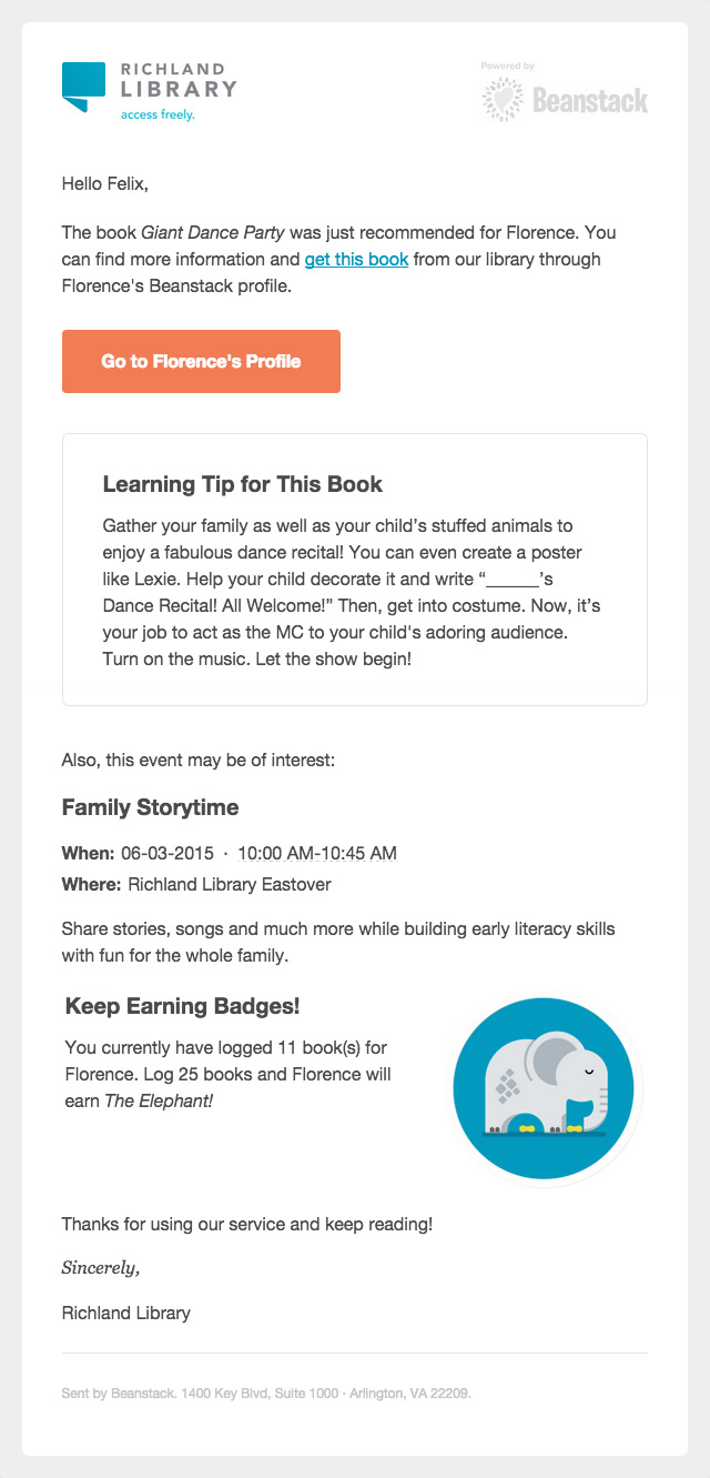 A learning tip email