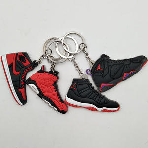 new style c5019 27dd5 wholesale 3D custom plastic mini air jordan shoes sneaker keychain