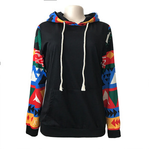 Wholesale Women Geometric Pattern Hoodies Atzec Cotton Pullover Hot Sale  Long Sleeved Sweatshirts DOM-108 4c93e90d0