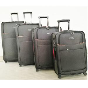 25661d458fb dot cloth EVA 4 pcs trolley bag built in 3 wheels luggage