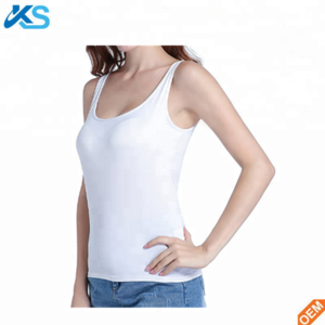 18c1632c67e8d Womens camisole built-in shelf padded bra cami bra straps tank top solid  color