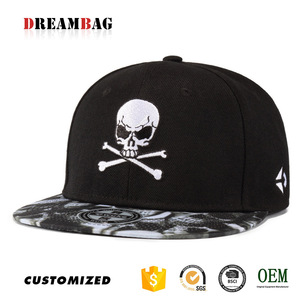 844edc4ab2c78 Guangzhou all seasons personalized custom high quality street hiphop skull  printed cool hats