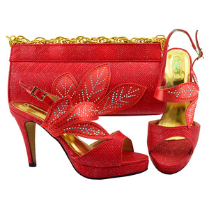9d1df0c76f25 China wholesale fashion leather African designer matching italian shoes and  bag set