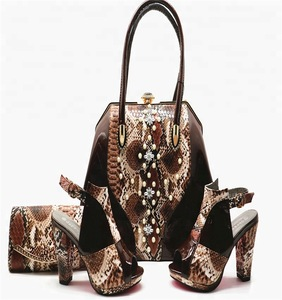 8ef37486e9c3 2018 High quality shoes and bags to match African high heel matching bag  italian designer shoes