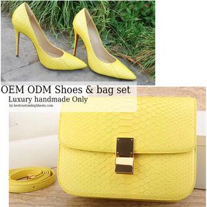790042ca88 Very luxury custom made shoe and bag set designer matching italian shoe and bag  sets