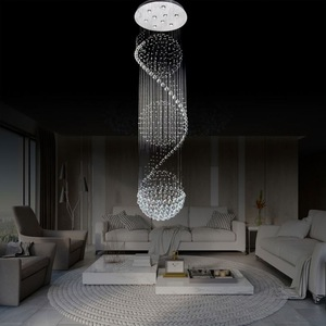 Lights & Lighting Ceiling Lights & Fans Bright New Luxury Large Custom Staircase Crystal Chandelier Living Room Decoration Lamp Hotel Lobby Lighting Led Lights Elegant And Sturdy Package