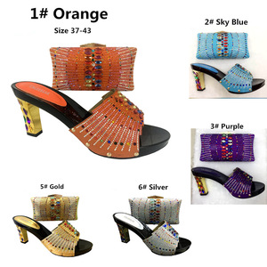 bcf032484ed0f2 2018 African Women Shoe And Bag To Match Set New Design Italian Shoe And Bag  Set