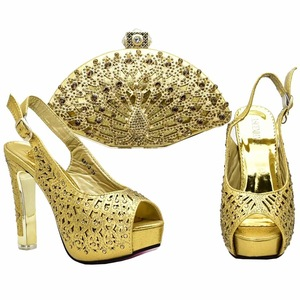 21415404510f italian designer shoes and bags to match women African high heel sandals shoes  matching bag set