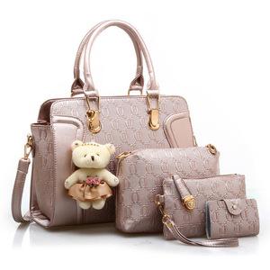 cc40eba477 2018 newest 4 bag in 1 set popular handbags for women leather handbag
