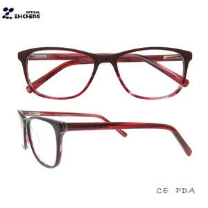 245cc58a49 2018 new style Girls Top Fashion Design Acetate Eyeglasses Frames Eyewear  for Women