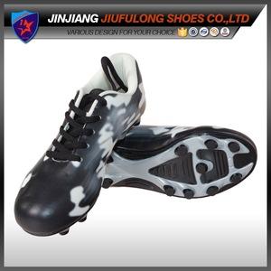 b6b71c709c9 Fashion Black White Bulk FG Soccer Cleats Football Shoe Wholesale Jinjiang  China