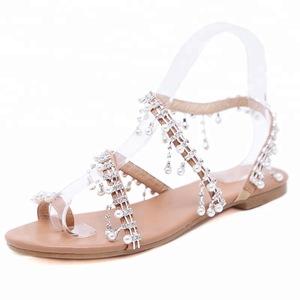 bcdaf9f4c52e women shoes flip flops sandals Beaded sandals plus size shoes spanish  brands flats summer shoes