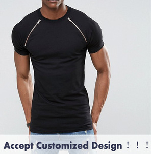 cfed2cded92 Men Stretch Cotton Muscle Fit Raglan Fashion Blank Black T Shirt Wholesale  In China With Sleeve