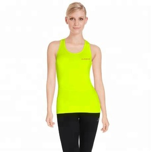 693695ab3e8dc Design womens athletic neon yellow tank top gym women tank top women sport  workout ladies stringer