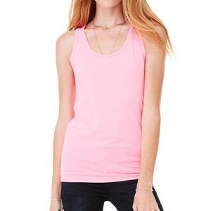 1958cb3ce612c OEM Service Wholesale Fitness Crop Top Neon Pink Cotton Women Workout Tank  Top
